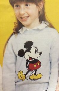 Disney Mickey Mouse Jumper ( Childrens & Adult)  Knitting Pattern