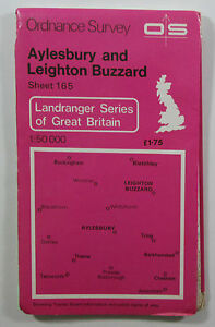 1976-old-vintage-OS-Ordnance-Survey-1-50000-Landranger-Map-165-Aylesbury-etc