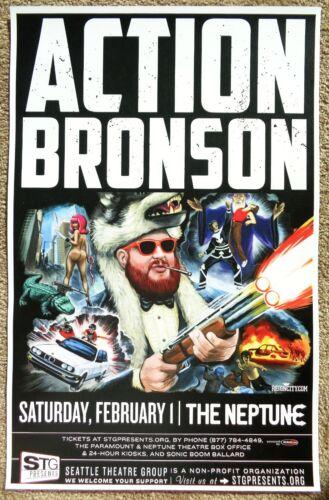 ACTION BRONSON 2014 Gig POSTER Seattle Concert Washington