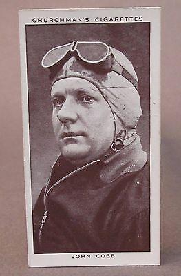 1939 JOHN COBB Speed Record Holder Churchman tobacco card #12 Kings of Speed
