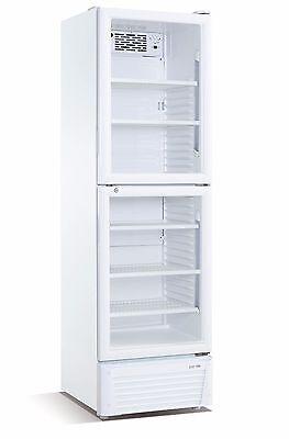 Flaschenkühlschrank 386 Umluft mit 2 Glastüren Getränkekühlschrank Gastro