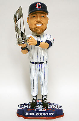 Ben Zobrist CHICAGO CUBS 2016 WORLD SERIES CHAMPIONS BOBBLEHEAD MVP TROPHY