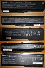 5x Misc laptop batterys new and as new conds $20 each, non neg Granville Parramatta Area Preview