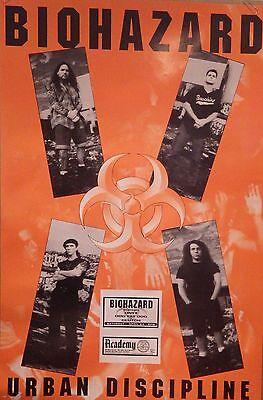 """MUSIC POSTER~Biohazard Urban Discipline 24x36"""" Original Album NOS 1992 Album~"""
