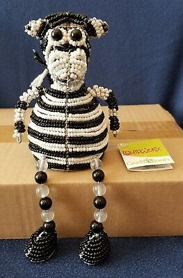 (Zebra Shelf Sitter * Beadworx by Grass Roots Creations * New with Tags)