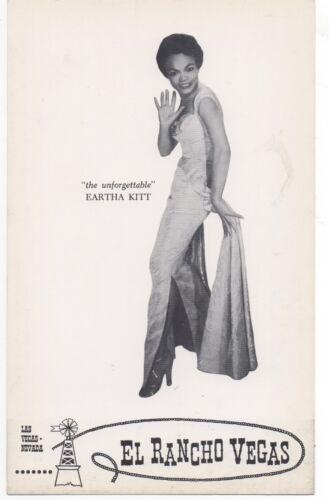 1960s Oversized Postcard of Eartha Kitt from the El Rancho Vegas Casino