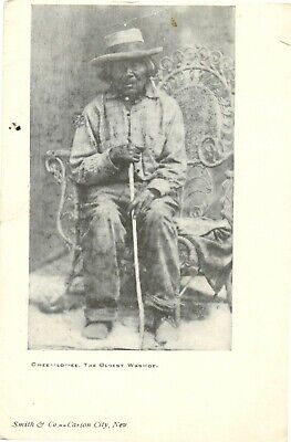 CHEE-LO-EE ~The Oldest WASHOE INDIAN - NEVADA~ Scarce Old Postcard, 1910