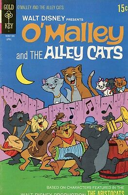 Walt Disney O'Malley And The Alley Cats #1 F/VF 7.0 Gold Key 1971 See My Store