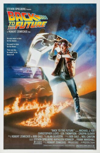 BACK TO THE FUTURE (1986) ORIGINAL MOVIE POSTER  -  ROLLED