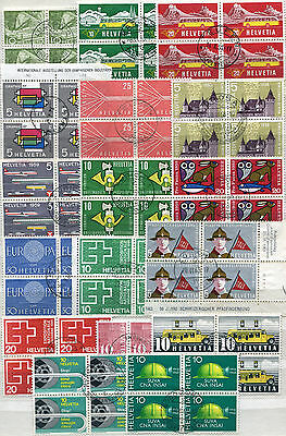 Schweiz- Lot 4er Blocks o   ( 38984 )