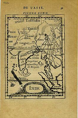 1683 Genuine Antique map India, Ceylon, SE Asia, Ganges River. by A.M. Mallet