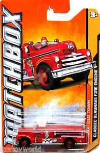 Classic Seagrave Fire Engine Matchbox 2012 OLD TOWN #10/10 VERY NICE