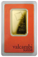 Valcambi Suisse 1 oz Gold Bar Sealed with Assay Certificate SKU28617