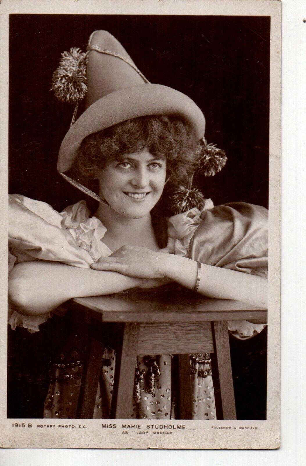 70268 Orig 1906 RPPC PC British Theatre Actress Marie Studholme As Lady Madcap - $8.50