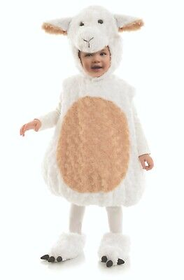 Underwraps Bauch Babys Lamm Plüsch Fell Kleinkinder Halloween - Lamm Kleinkind Kostüme