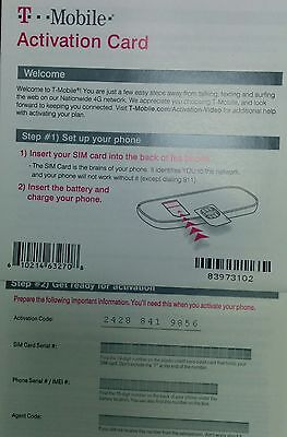 T-Mobile Starter Kit With $0 Value Activation Code Only (NO SIM card) Lot of See more like this T-Mobile Starter Kit With $0 Value Activation Code Only (NO SIM card) Lot of Brand New.