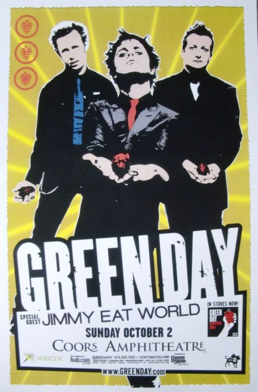 "GREEN DAY / JIMMY EAT WORLD 2005 ""AMERICAN IDIOT TOUR"" SAN DIEGO CONCERT POSTER"