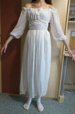 Kleid pirat chiffon Unterkleid Mittelalter Renaissance Brautkleid boho - Weiße Renaissance Kleid