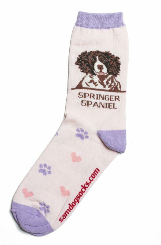 Springer Spaniel Brown Dog Socks