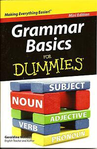 Grammar Basics for Dummies - Learn English Speaking Writing Mini Edition - New