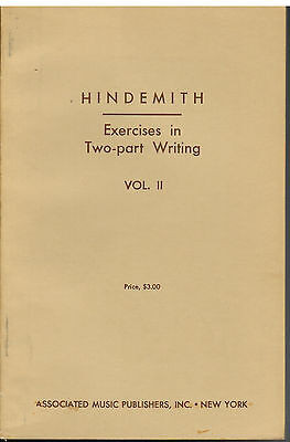 - HINDEMITH - Exercises in Two-part Writing Vol II 1941 trans. Otto Ortmann