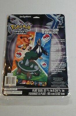 POKEMON PARTY GAME Diamond And Pearl Video Game Birthday Activity POSTER - NEW (Pokemon Party Games)