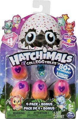 NEW Hatchimals CollEGGtibles 4-Pack Eggs + Bonus Figure Season 4 BLIND BOX