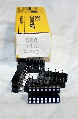 Ecg416 16-pin Dip Ic Sockets Solder Type Repl Nte416 Qty. 5