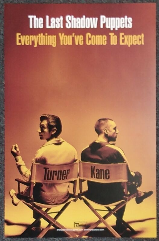 The Last Shadow Puppets Everything You've Come to Expect 2016 PROMO POSTER