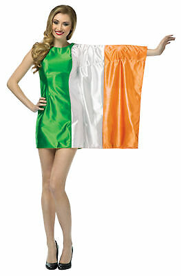 Flag Ireland Adult Women's Costume Halloween Mini Fancy Dress Rasta - Ladies Halloween Costumes Ireland