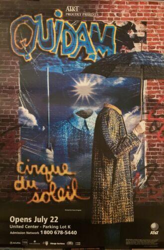 "CIRQUE DU SOLEIL - QUIDAM ORIGINAL POSTER AT&T PRESENTS 48"" X 32"" VERY RARE!!"