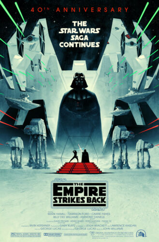 STAR WARS THE EMPIRE STRIKES BACK 40TH ANNIVERSARY POSTER HAMILL FISHER FORD