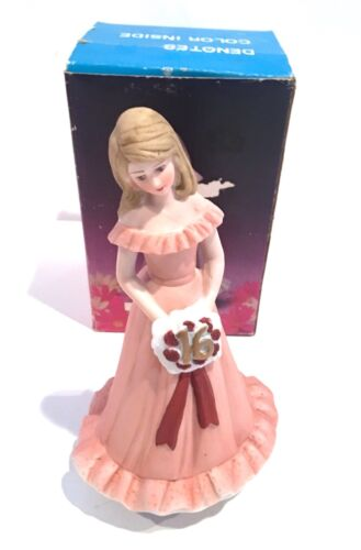 RARE NIB Vintage Growing Up Birthday Girls Enesco Blonde Age 16 Musical
