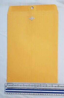 Brown Craft Envelope 9 X 12 Gummed Clasped Flap 5 Envelopes.