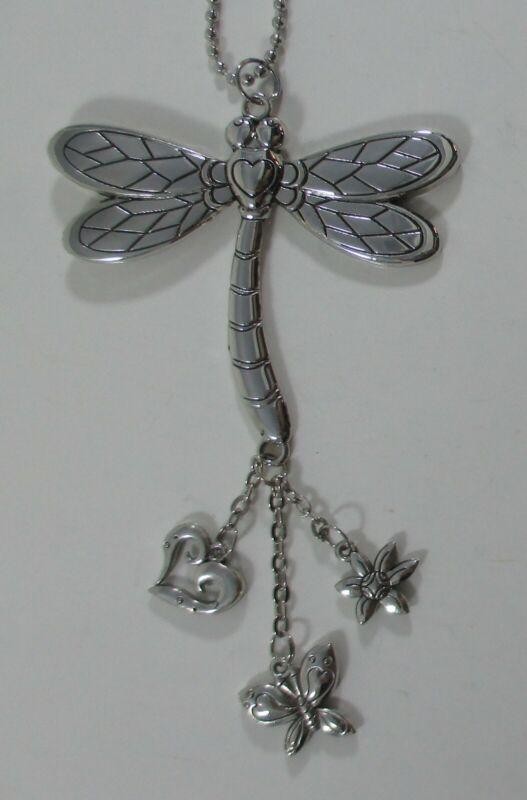 zze DRAGONFLY heart CAR MIRROR CHARM JEWELRY REAR VIEW ganz ornament eg0584