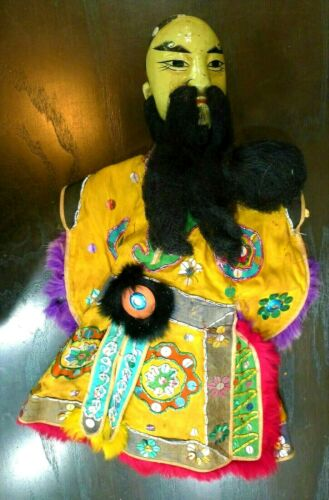 ANTIQUE CHINESE ASIAN OPERA DOLL HAND PUPPET