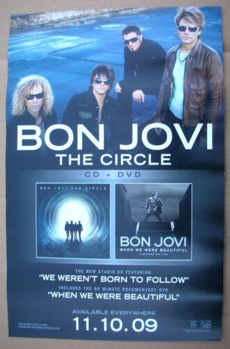 Jon BON JOVI The Circle 2-Sided Original Record Store Promo Poster Mint- 2009!