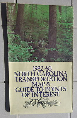 1982 1983 North Carolina  road  map Official state highway