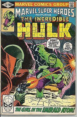 MARVEL SUPER HEROES # 97 VERY GOOD PLUS 1981 REPRINT OF INCREDIBLE HULK