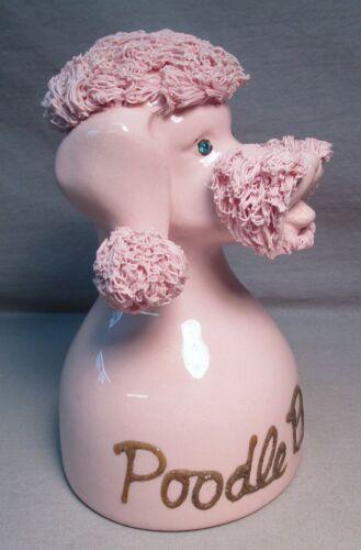 Kreiss Japan Pink Spaghetti Poodle Ceramic Bank 1950