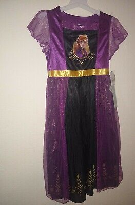 Disney Frozen 2 Dress Up Gown Anna. Size S Flame Resistant. 100% polyester. NWT