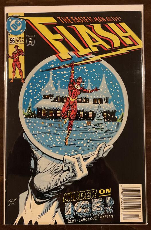 Flash #56 VF 8.0 NEWSSTAND EDITION DC COMICS 1991 MURDER ON ICE