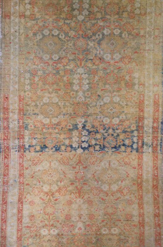 Tremendous Tribal - 1900s Antique Oriental Runner - Floral Rug - 3.1 X 9.6 Ft.