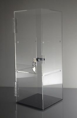 Acrylic Showcase Jewelrypastry Counter Display Wdoor Lock 6x 6x 16