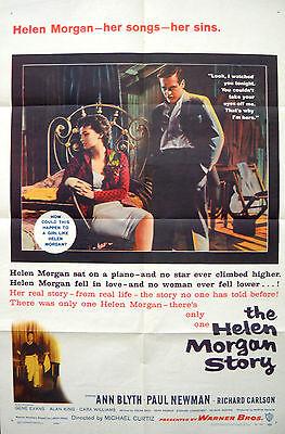 THE HELEN MORGAN STORY MOVIE POSTER Ann Blyth & Paul Newman 1sht
