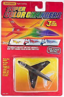 Matchbox Super Color Changers USAF Jet 1988 Die-Cast Military Aircraft Plane