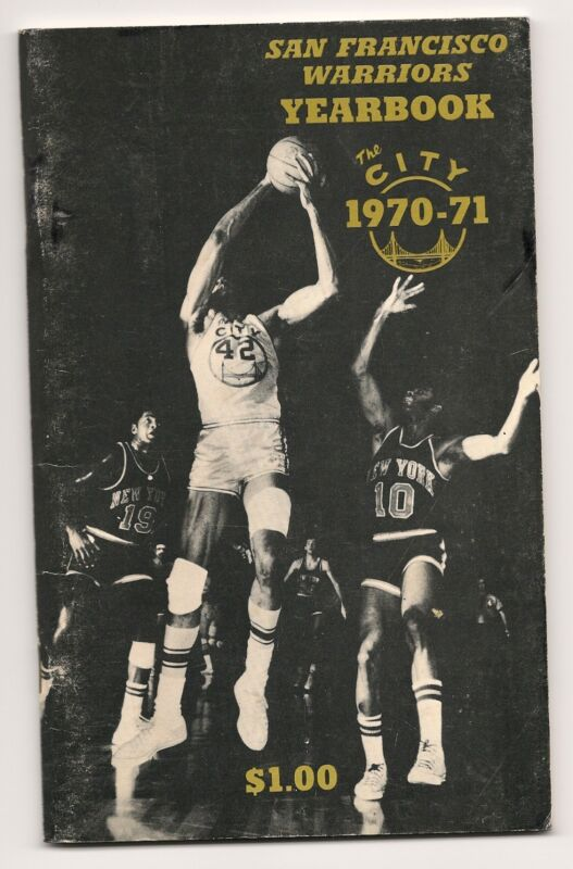 1970-71 San Francisco Warriors Yearbook Media Guide GEM!!