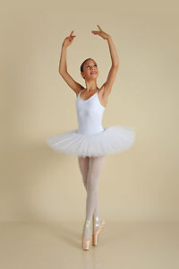 Professional-Petite-Ballet-Recital-Tutu-White-all-Sizes