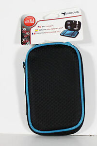 Travel Case for Nintendo 3DS DSi DSi Lite Game Console Subsonic Blue and Black