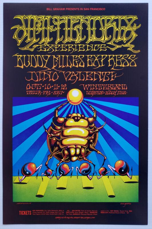 Jimi Hendrix Concert Poster 1968 Winterland